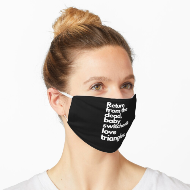 Soap Opera Terms Face Mask