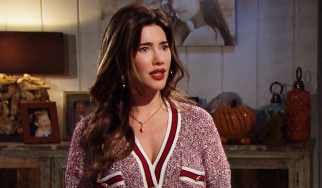 steffy listens to liam's story about thomas and hope B&B