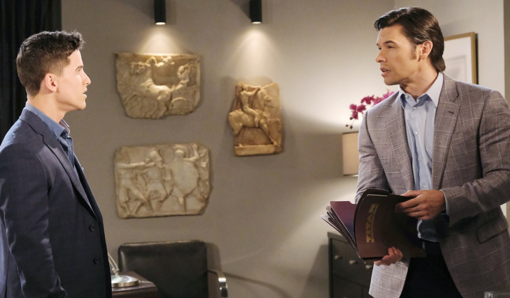 Xander gives Charlie romantic advice on Days of Our Lives