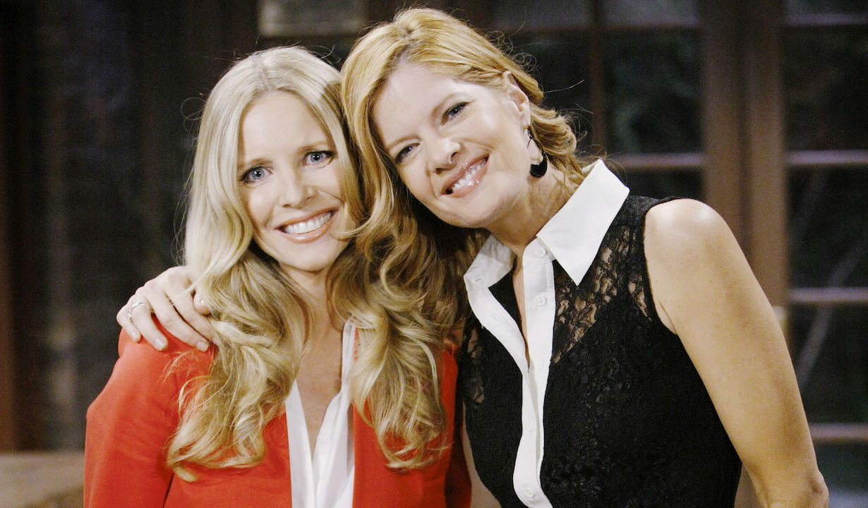 "Michelle Stafford, Lauralee Bell""The Young and the Restless"" Set CBS television CityLos Angeles04/13/12©sean smith/jpistudios.com310-657-9661"