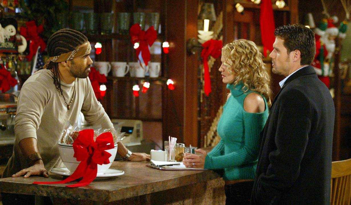 "Shemar Moore, Sharon Case, Joshua Morrow""The Young and the Restless"" christmas am"