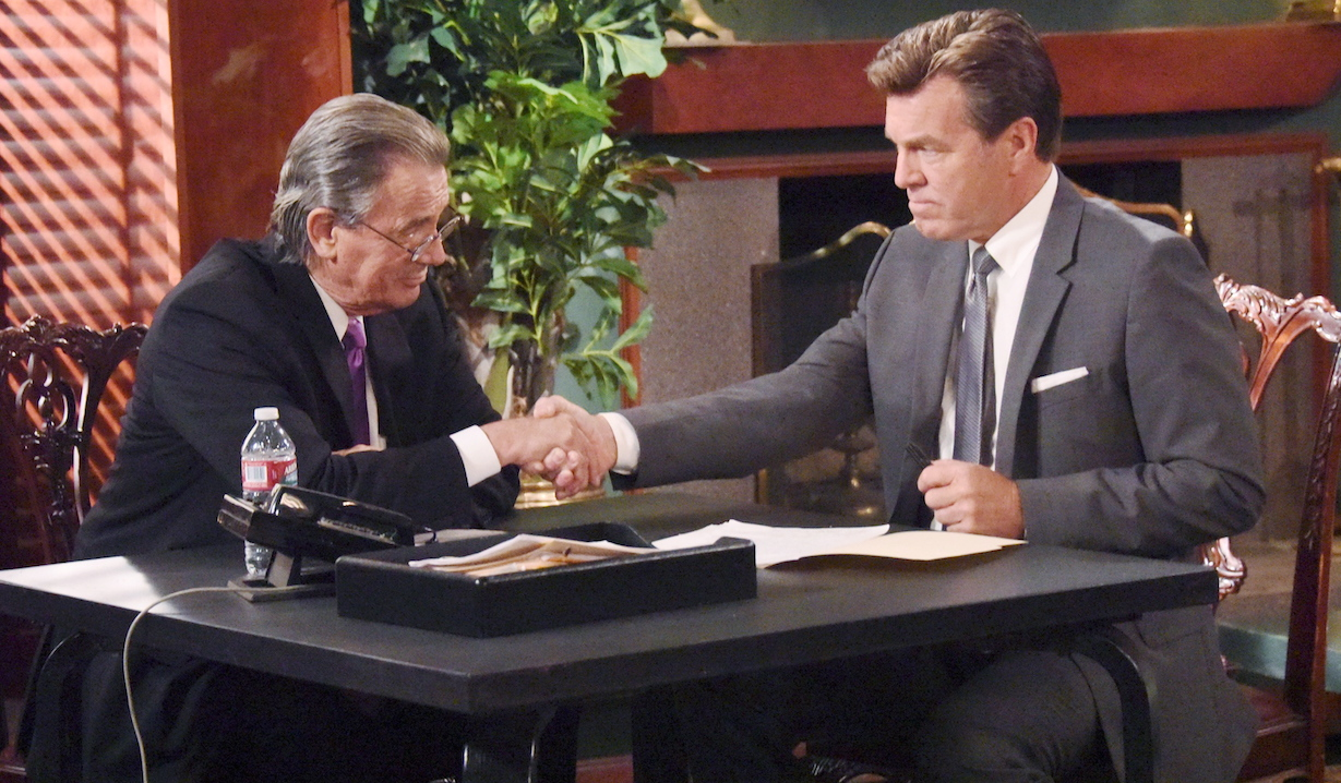 Victor and Jack shake hands on The Young and the Restless