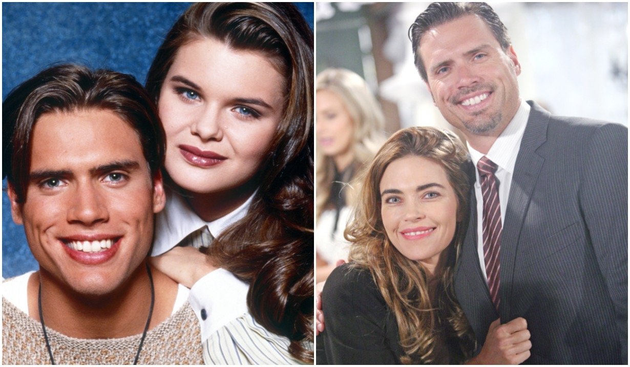 joshua morrow then now nick victoria heather tom amelia heinle