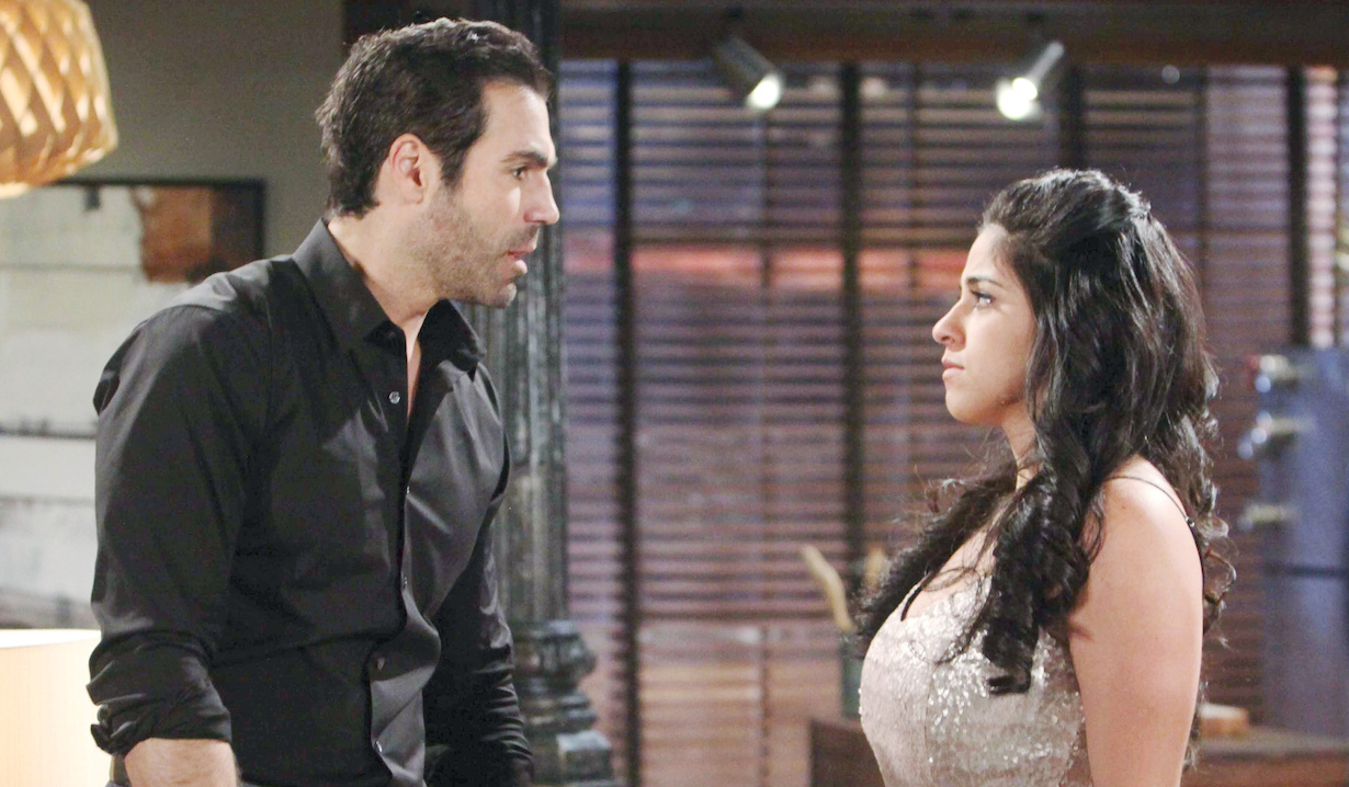 "Jordi Vilasuso, Noemi Rodriguez ""The Young and the Restless"" Set CBS television City Los Angeles 10/11/18 © Howard Wise/jpistudios.com 310-657-9661 Episode # 11562 U.S. Airdate 11/16/18"