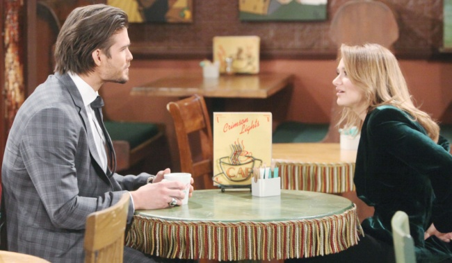 """theo summer Tyler Johnson, Hunter King""""The Young and the Restless"""" Set CBS television CityLos Angeles10/25/19© Howard Wise/jpistudios.com310-657-9661Episode # 11828U.S. Airdate 12/04/19"""