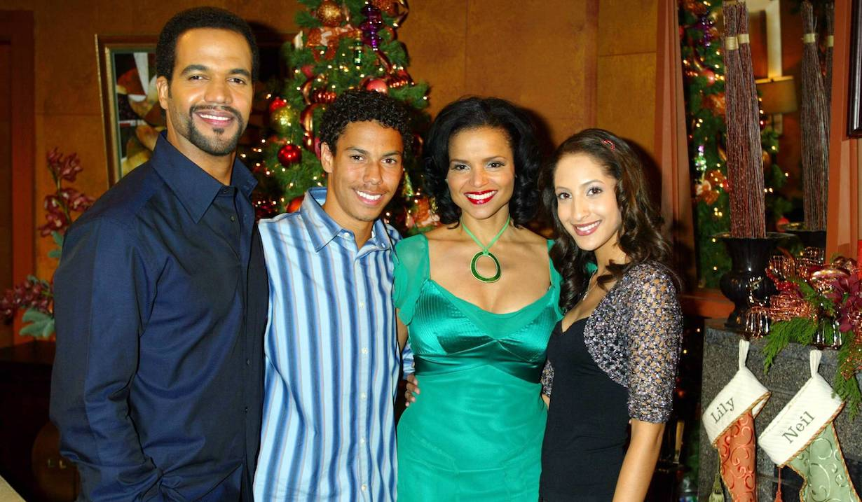 "Kristoff St. John, Christel Khalil, Victoria Rowell, Bryton McClure ""The Young and the Restless"" christmas am"