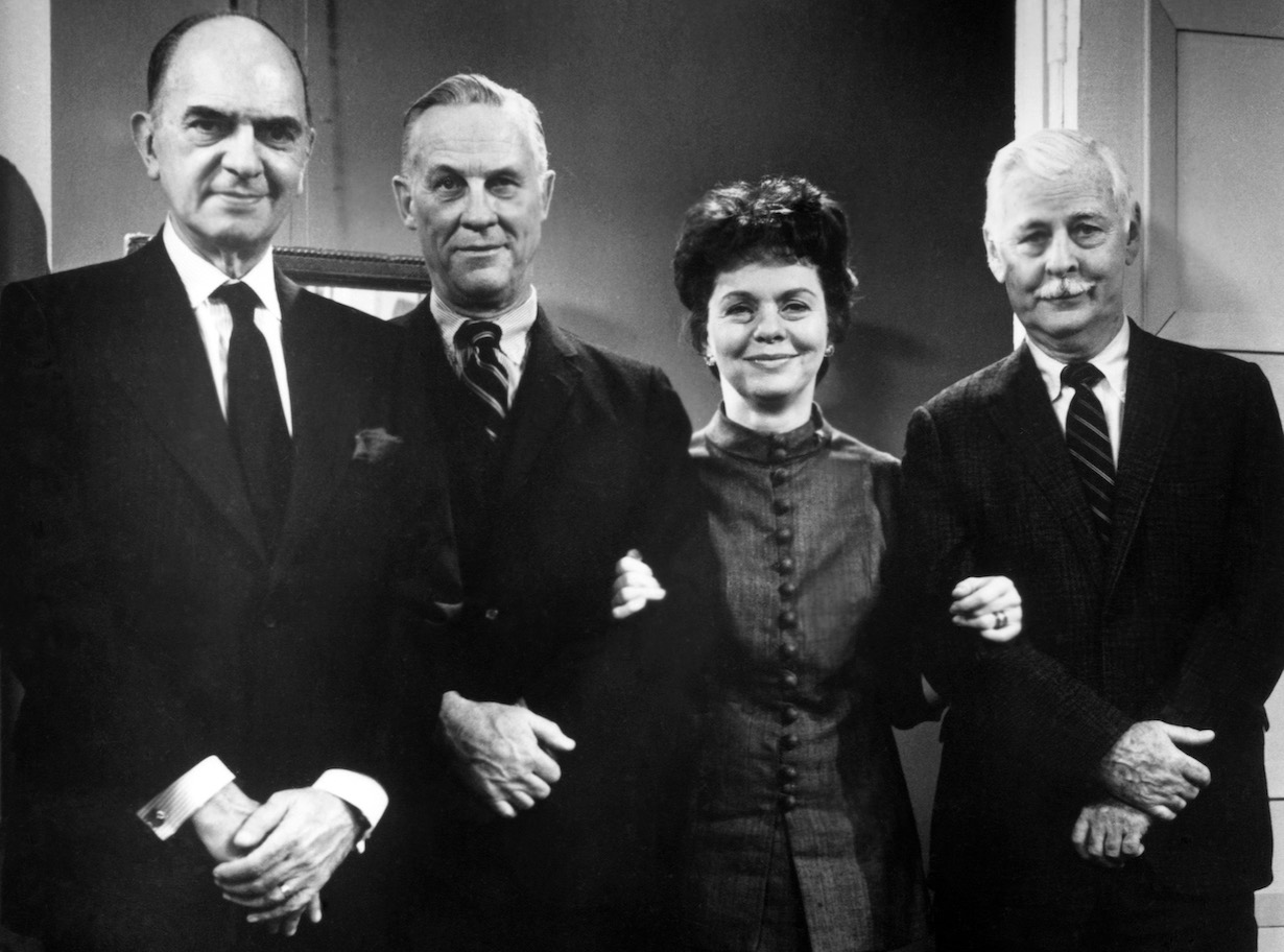 AS THE WORLD TURNS, (l-r): Santos Ortega, Don MacLaughlin, Helen Wagner, William Johnstone (ca. 1971), 1956-2010. © CBS / Courtesy: Everett Collection