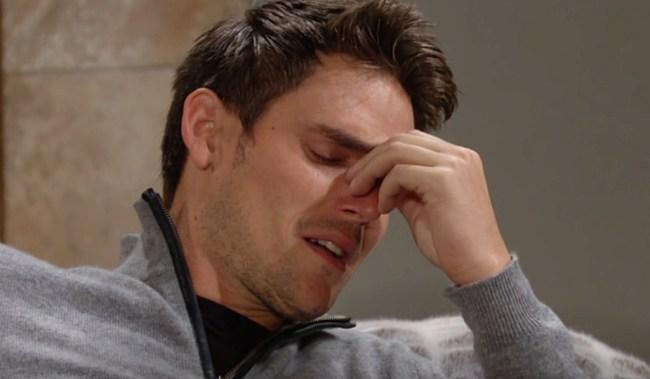 Adam cry Y&R