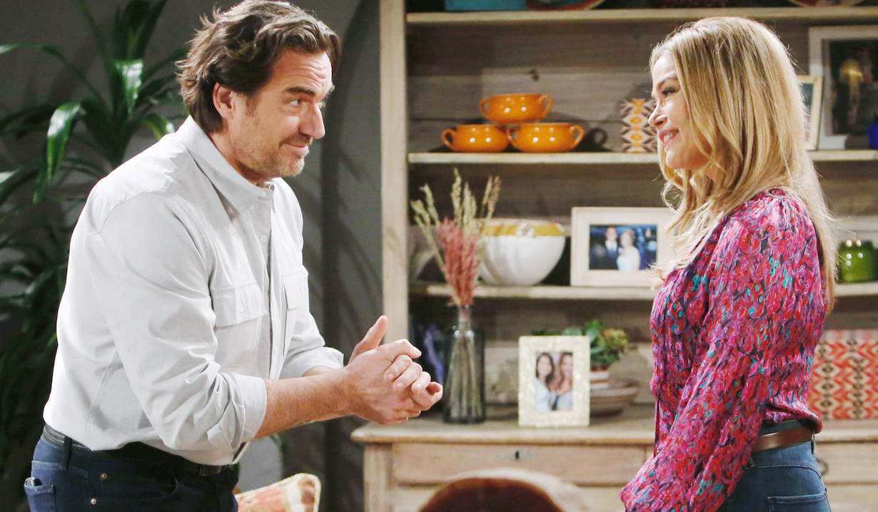 "Thorsten Kaye, Denise Richards ""The Bold and the Beautiful"" Set CBS Television City Los Angeles, Ca. 02/26/20 © Howard Wise/jpistudios.com 310-657-9661 Episode # 8309 U.S.Airdate 04/07/20"