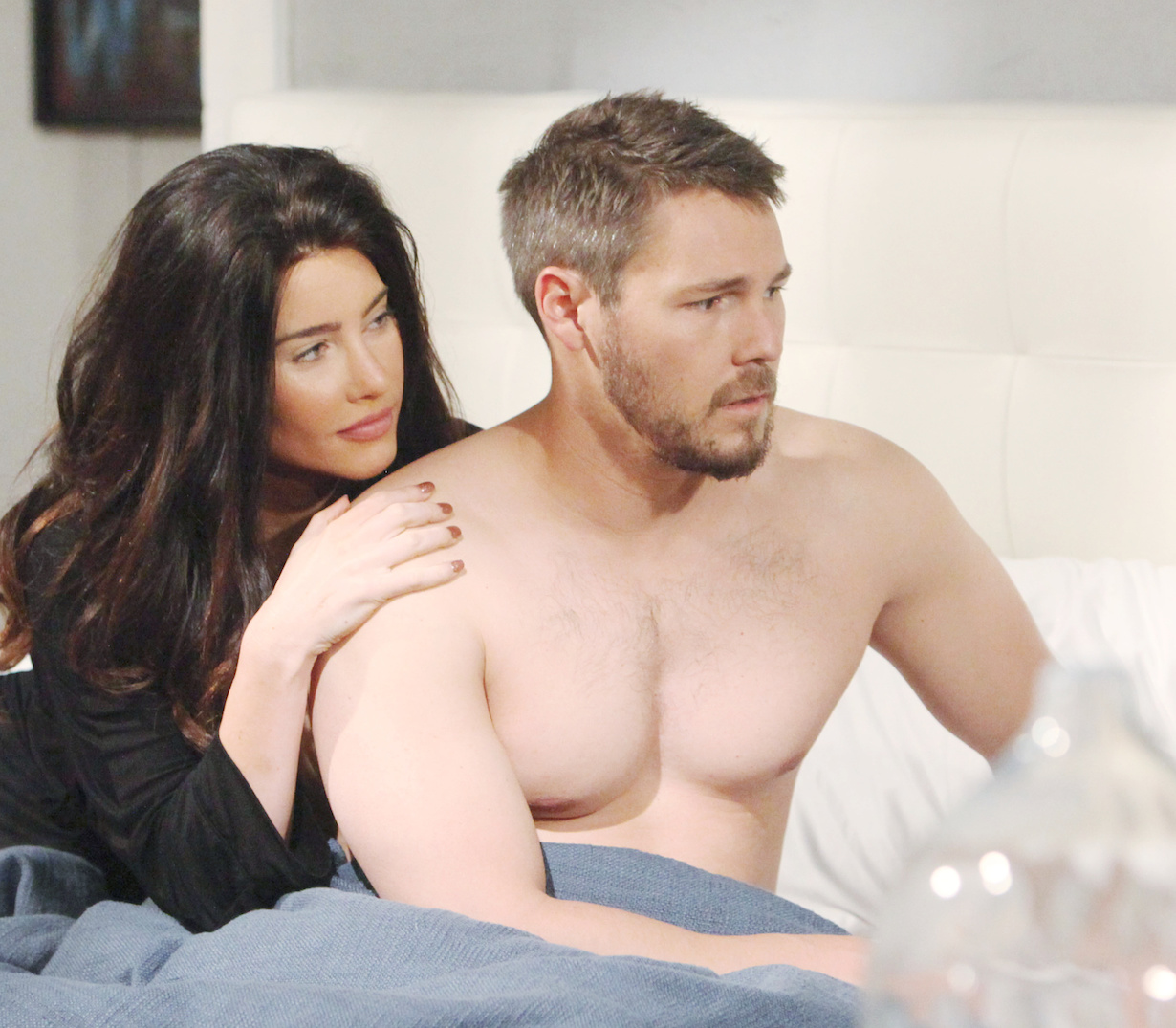 "Scott Clifton, Jacqueline MacInnes Wood""The Bold and the Beautiful"" SetCBS Television CityLos Angeles, Ca.05/30/19© Howard Wise/jpistudios.com310-657-9661Episode # 8124U.S.Airdate 07/2/19"