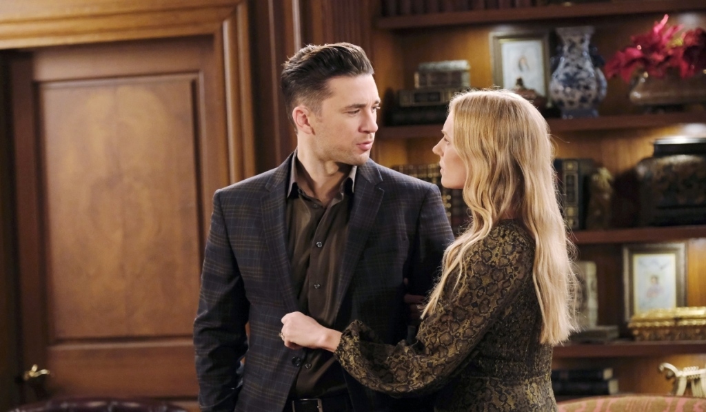 Abigail and Chad argue at the DiMera mansion Days of Our Lives