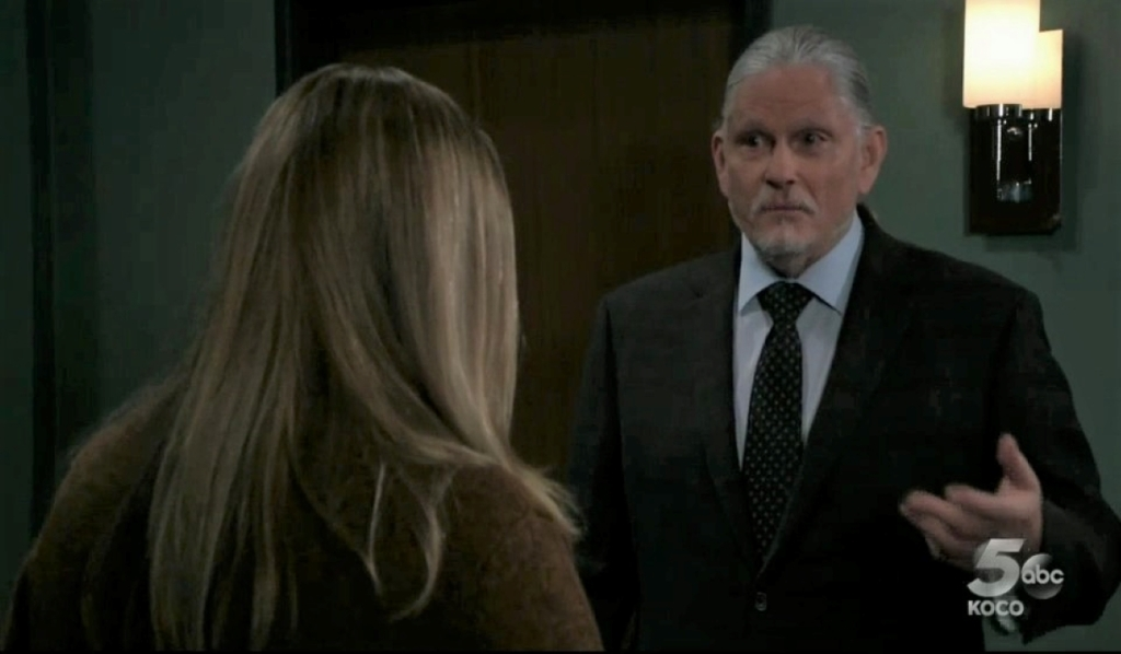 Laura and Cyrus debate the past at care facility General Hospital