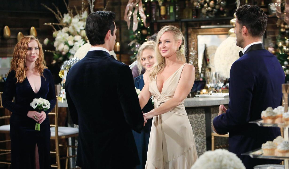 Sharon, Rey exchange vows Y&R