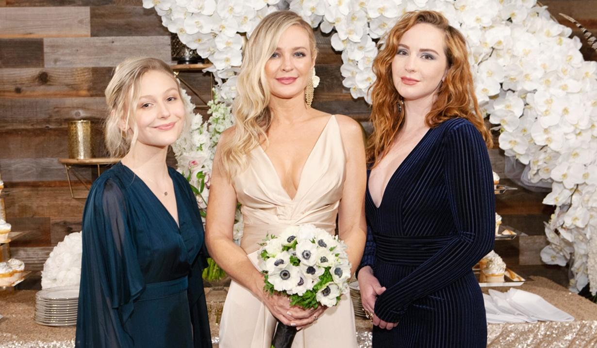 Sharon, Faith, Mariah wedding Y&R