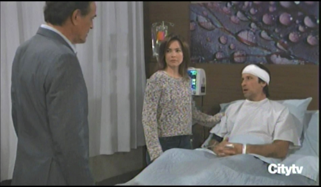 Kevin checks in on Franco and Liz at General Hospital