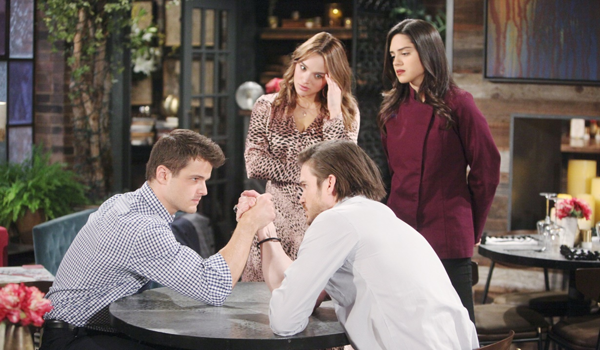 Kyle, Theo, Summer, Lola quadrangle Y&R