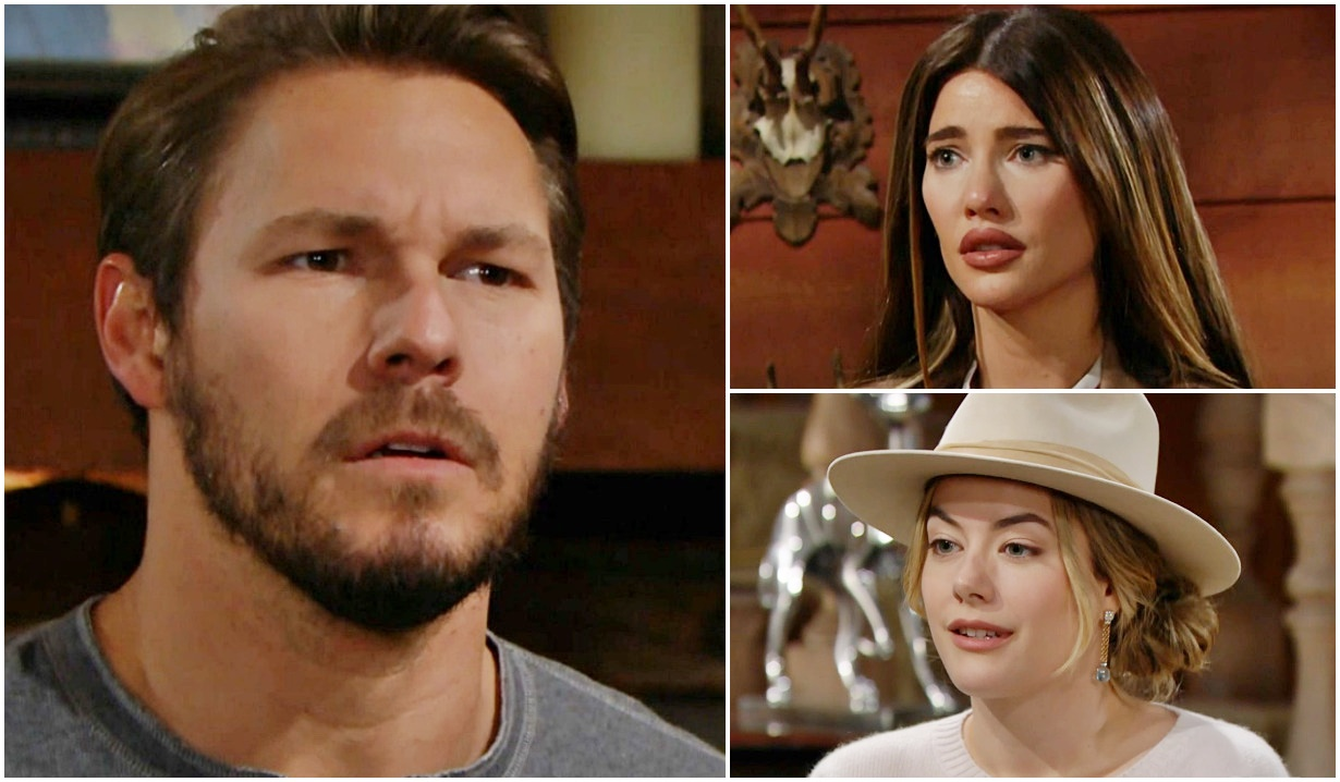 Liam lying, Hope, Steffy B&B