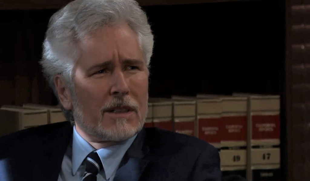 Martin questions Julian in his office General Hospital