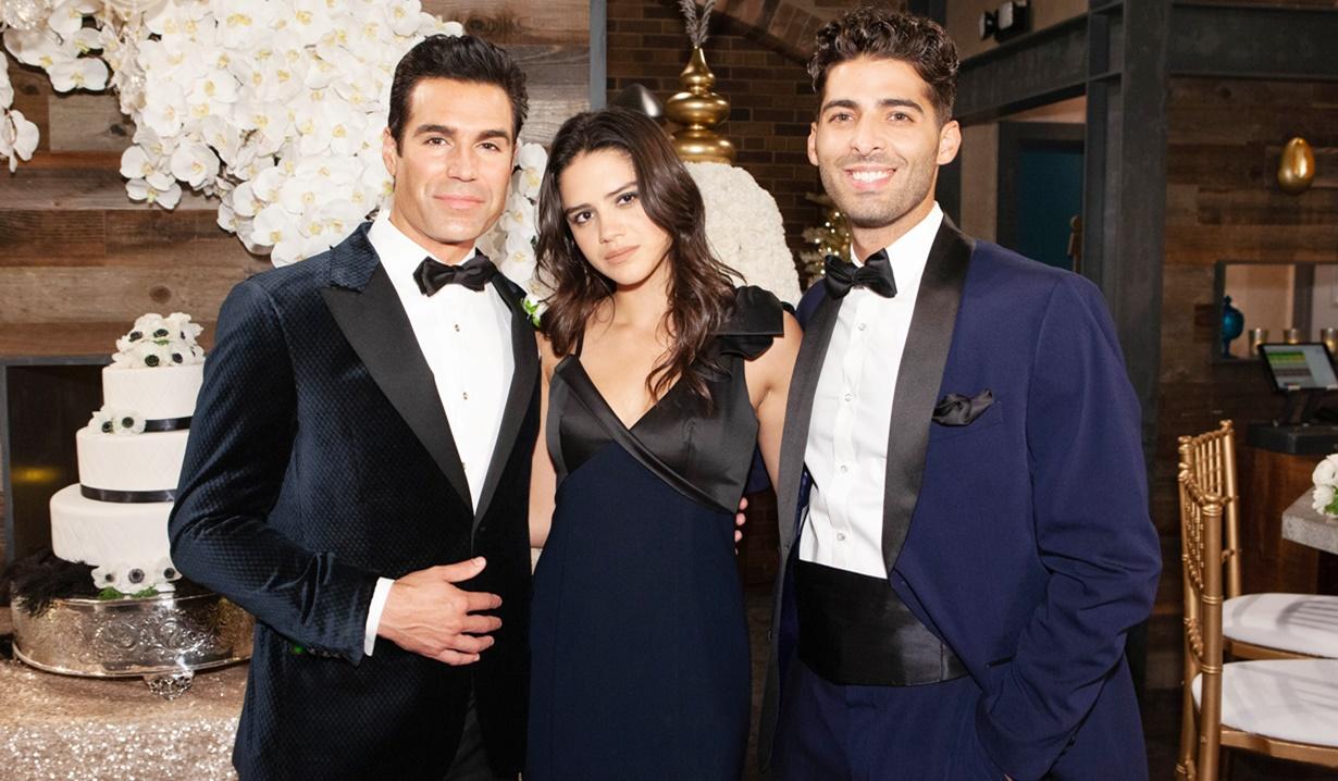 Rey, Lola, Arturo wedding Y&R