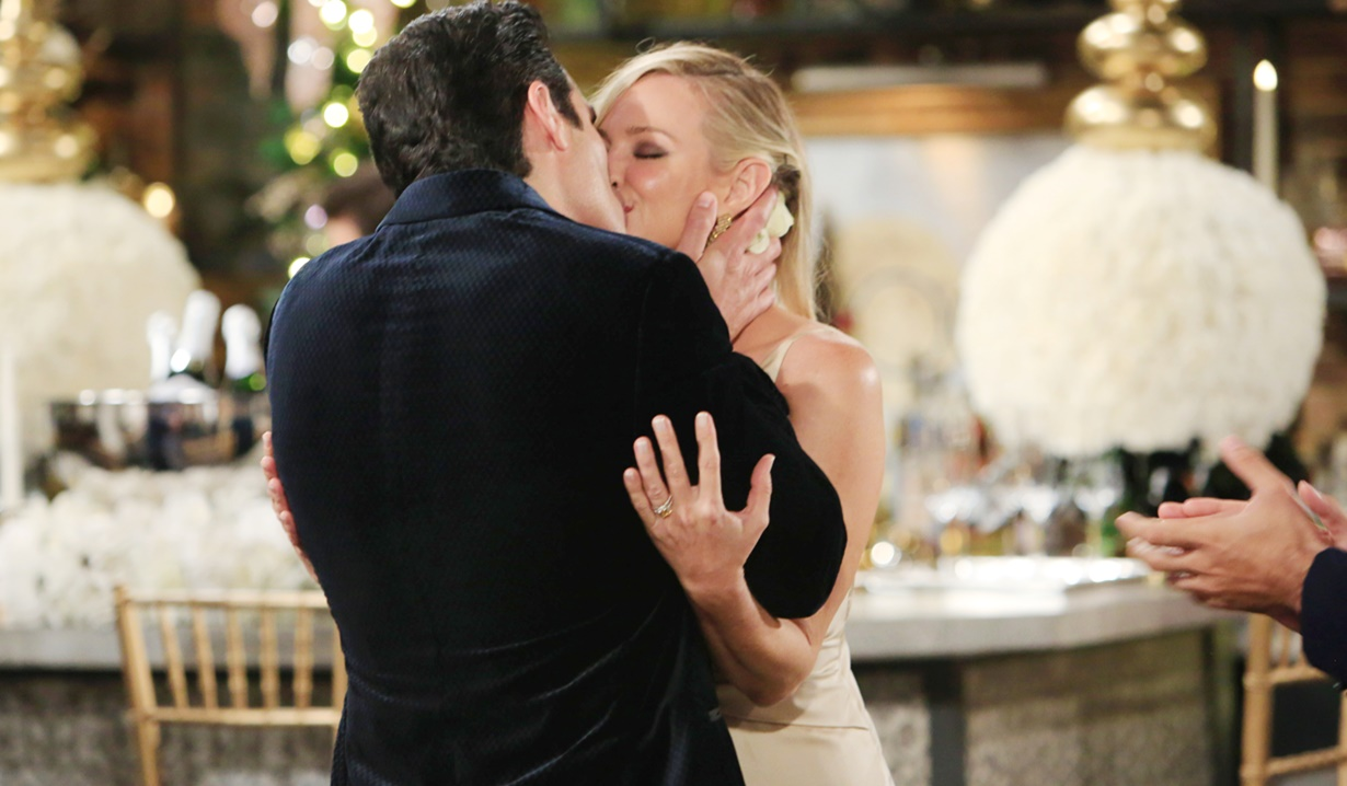 Sharon, Rey kiss wedding Y&R