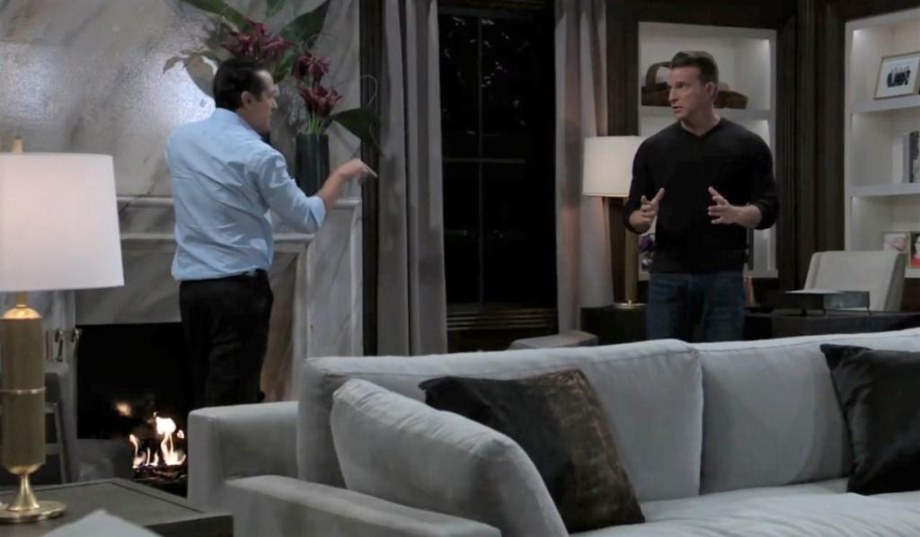 Sonny tells Jason Julian has pushed him too far at Corinthos house General Hospital