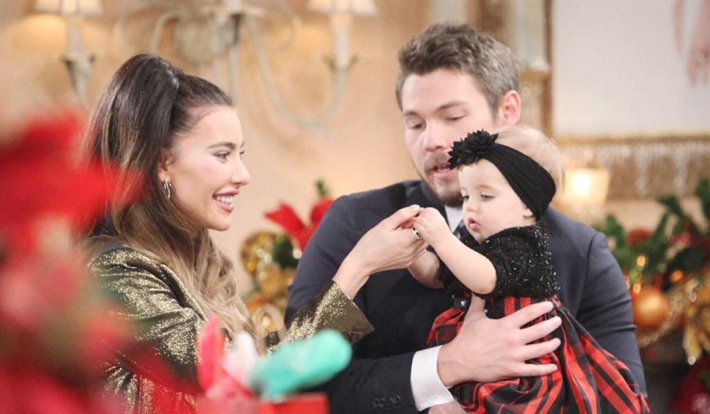Steffy, Liam, Kelly first Christmas B&B