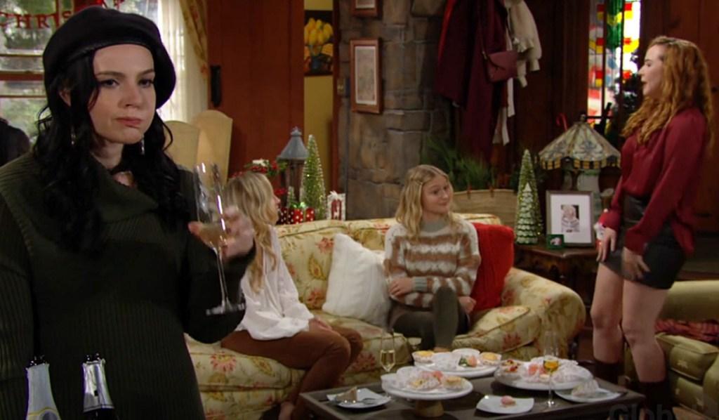 Tessa, Sharon, Faith, Mariah pre-wedding Y&R