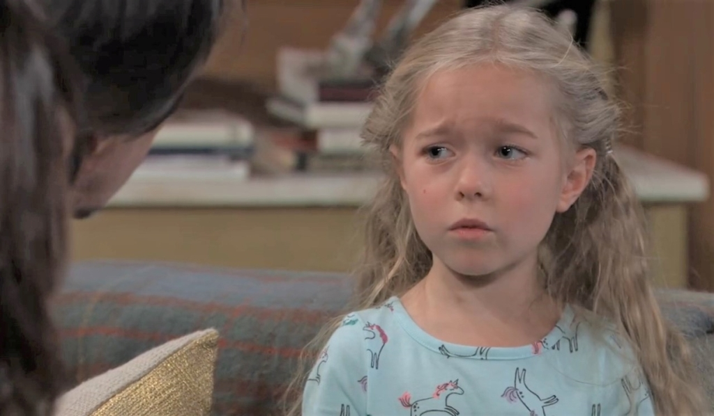Violet wants to be flowergirl at Anna's General Hospital