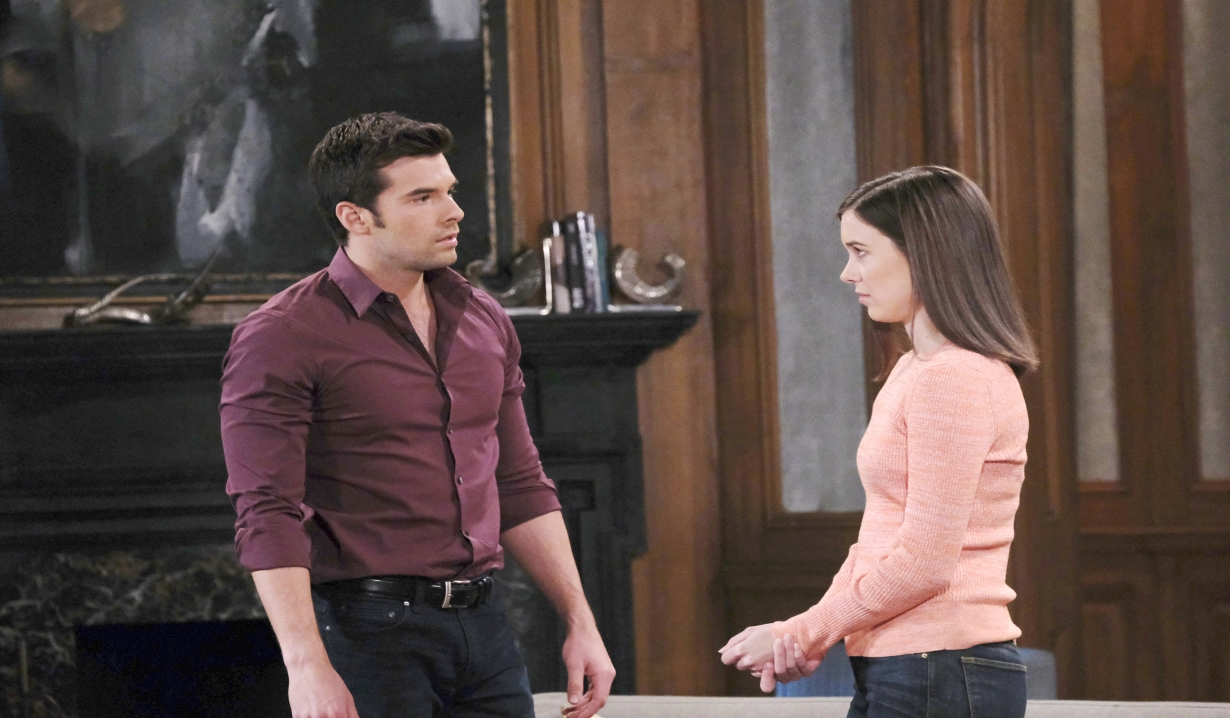 Willow and Chase talk deception at the Quartermaine estate General Hospital