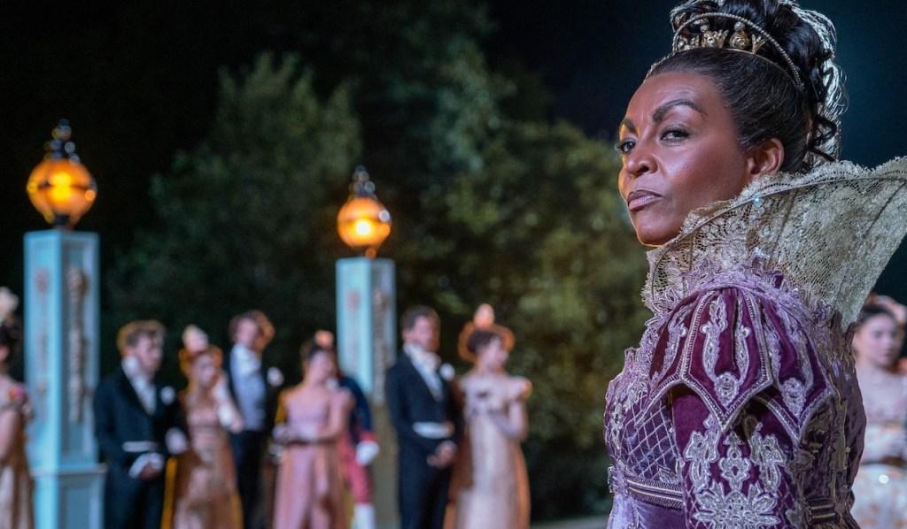 Adjoa Andoh as Lady Danbury on Bridgerton ,
