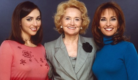 ALL MY CHILDREN, from left: Eden Riegel, Agnes Nixon, Susan Lucci, 1990s, 1970-2011. ph: Robert Milazzo/© American Broadcasting Company /Courtesy Everett Collection
