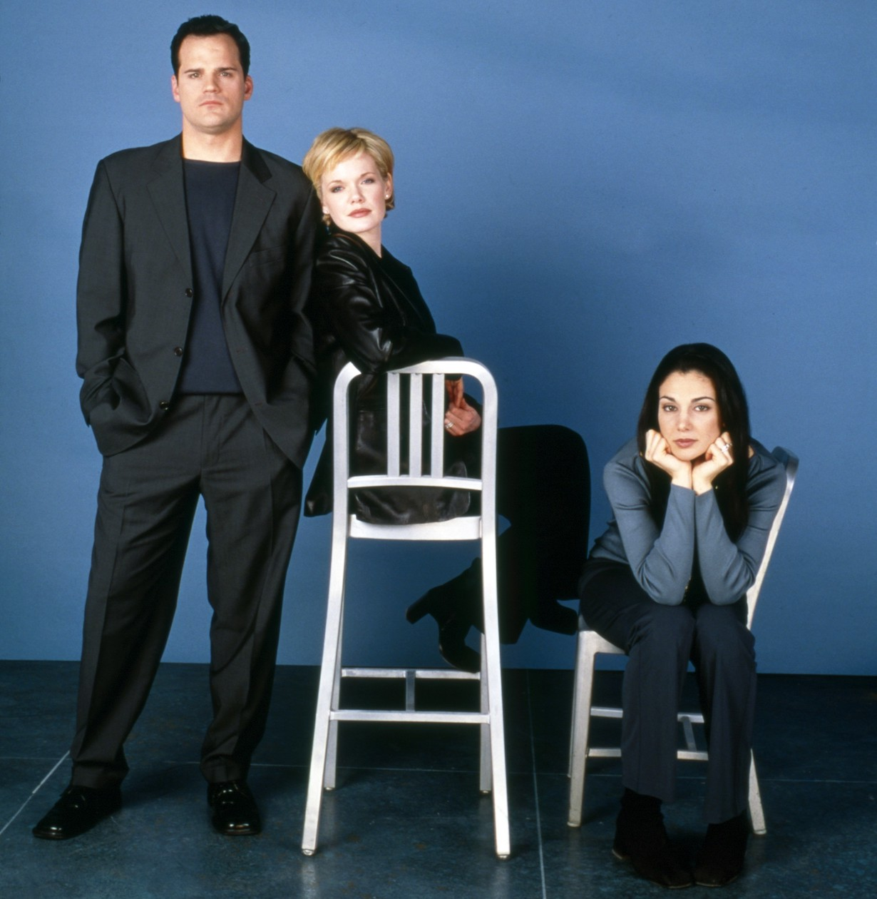 AS THE WORLD TURNS, from left: Michael Park, Maura West, Annie Parisse, 1990s, 1956-2010. ph: Robert Milazzo /© CBS /Courtesy Everett Collection