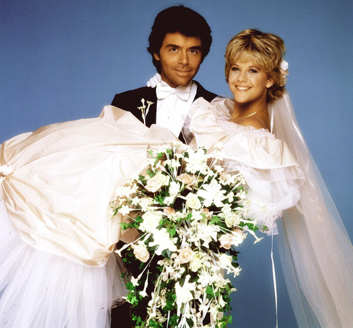 AS THE WORLD TURNS, Meg Ryan, Frank Runyeon, steve betsy wedding