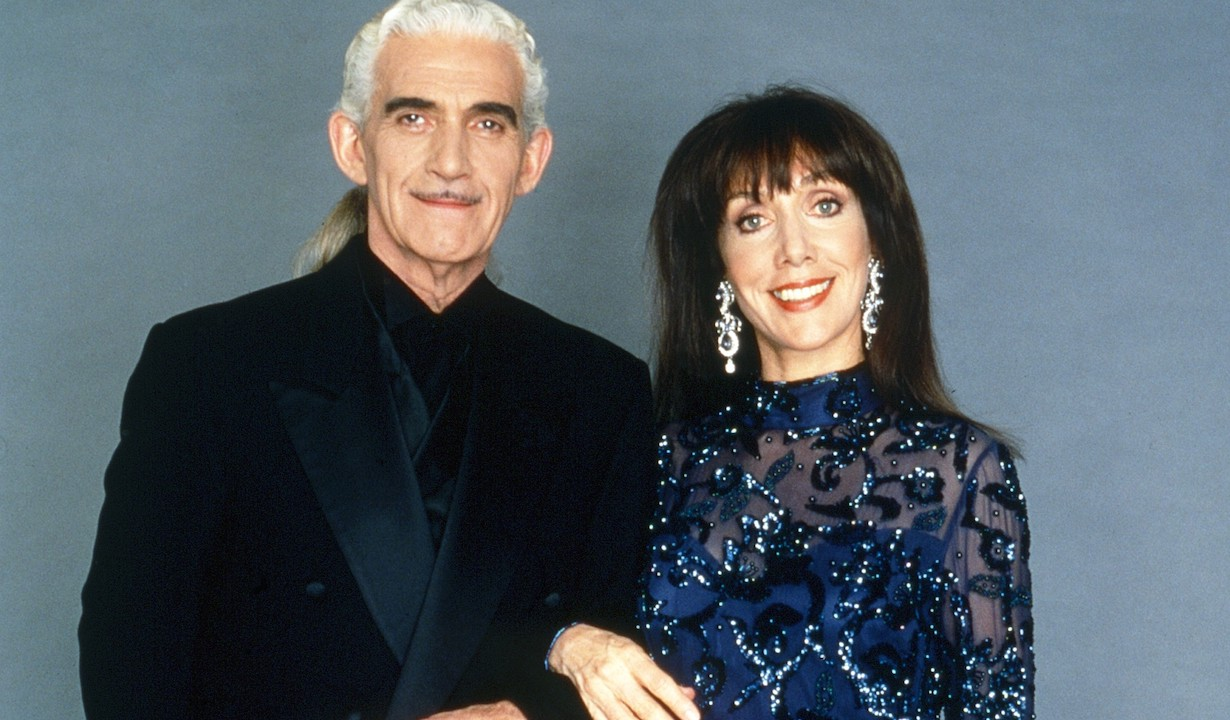 ANOTHER WORLD, from left: Charles Keating, Victoria Wyndham, 1997, 1964-1999. ph: E.J. Carr /© NBC /Courtesy Everett Collection