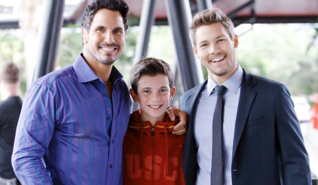 "Scott Clifton, Don Diamont, Son Luca""The Bold and the Beautiful"" Set CBS Television City Los Angeles 06/25/13 © sean smith/jpistudios.com 310-657-9661"