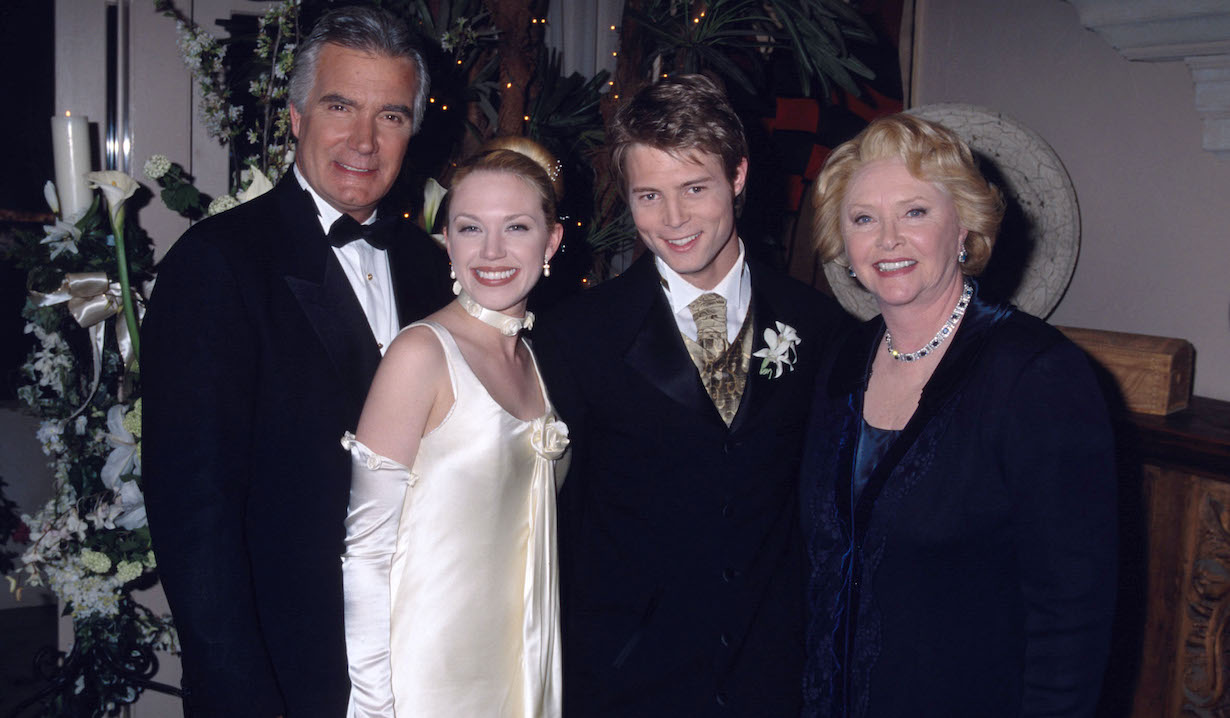 Adrienne Frantz, Justin Torkildsen, John McCook and Susan Flannery Bold and Beautiful bb 2001 wedding