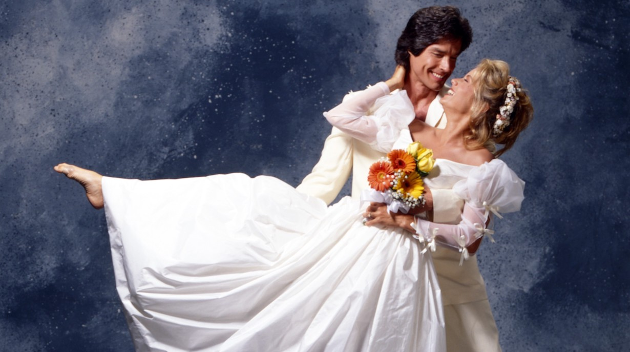 THE BOLD AND THE BEAUTIFUL, brooke ridge wedding Ronn Moss, Katherine Kelly Lang, 1990s, 1987– . ph: Jeff Katz / TV Guide /© CBS / Courtesy Everett Collection