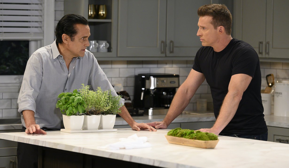"GENERAL HOSPITAL - Maurice Benard (Sonny) and Steve Burton (Jason) in scenes that air the week of June 10, 2019 on ABC's ""General Hospital."" General Hospital airs Monday-Friday, 3-4pm, ET on ABC. GH19(Walt Disney Television/Todd Wawrychuk) MAURICE BENARD, STEVE BURTON"