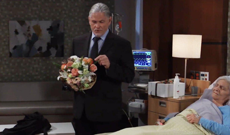 cyrus visits florence at care facility gh