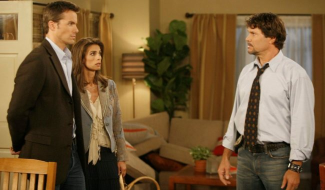 "Peter Reckell, Brody Hutzler, Kristian Alfonso""Days Of Our Lives"" Set NBC Studios Burbank 8/15/06 ©Evans Ward/jpistudios.com 310-657-9661 Episode # 10402"