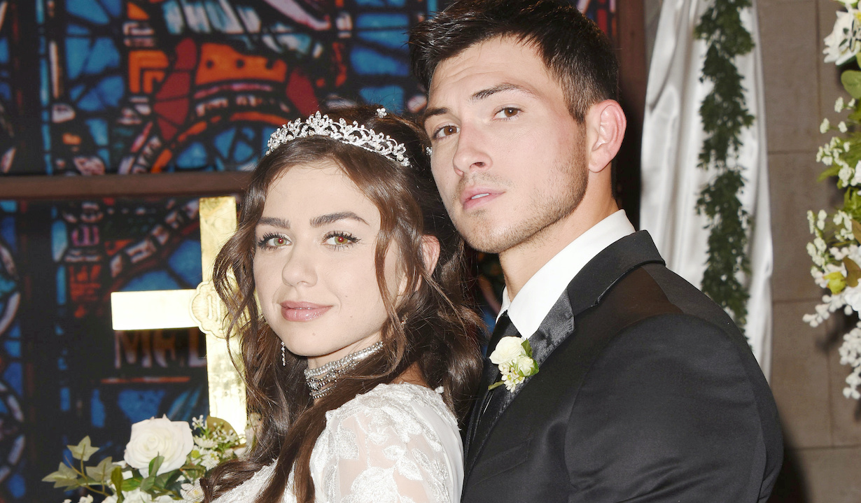 "Victoria Konefal, Robert Scott Wilson ""Days of our Lives"" Set Wedding NBC Studios Burbank 11/15/19 © XJJohnson/jpistudios.com 310-657-9661"