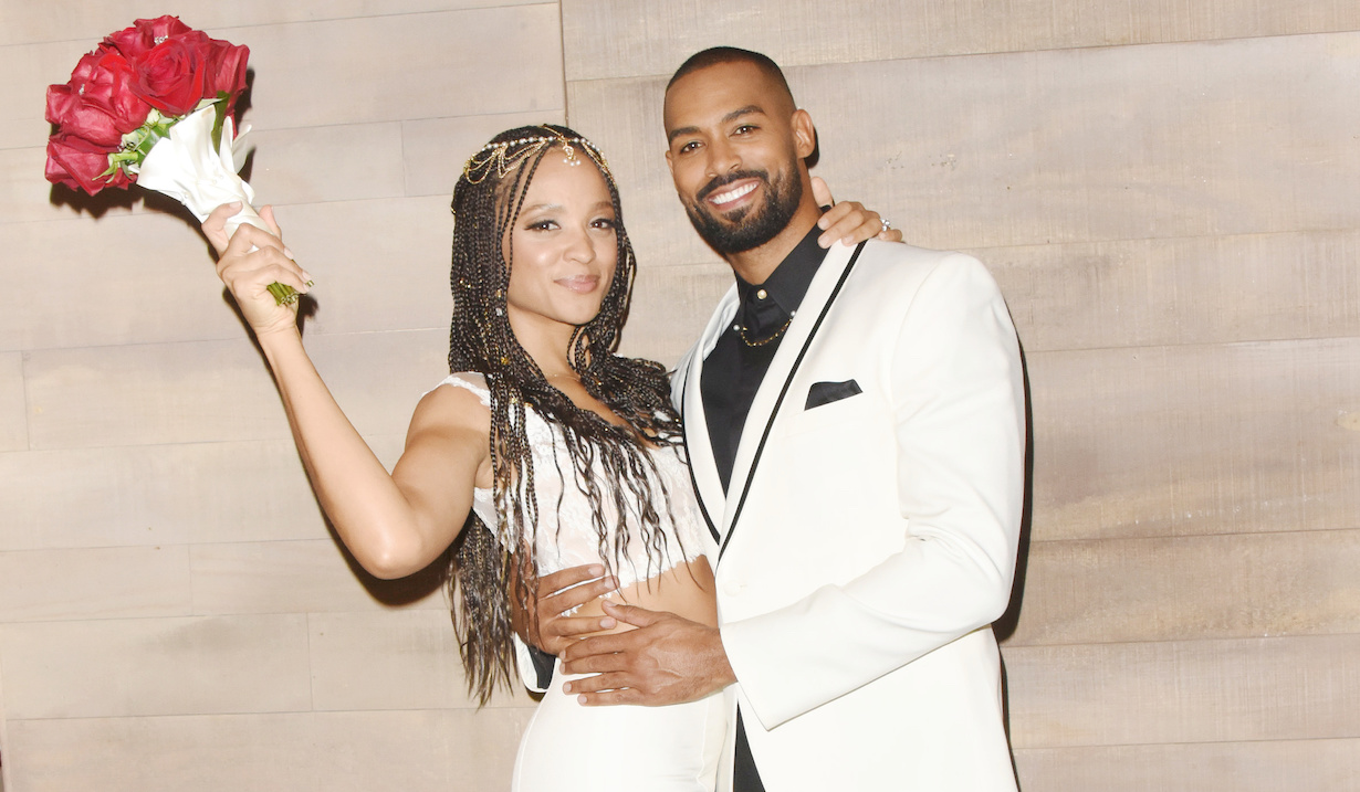 "Sal Stowers, Lamon Archey""Days of our Lives"" Set WeddingNBC StudiosBurbank10/23/19© XJJohnson/jpistudios.com310-657-9661"
