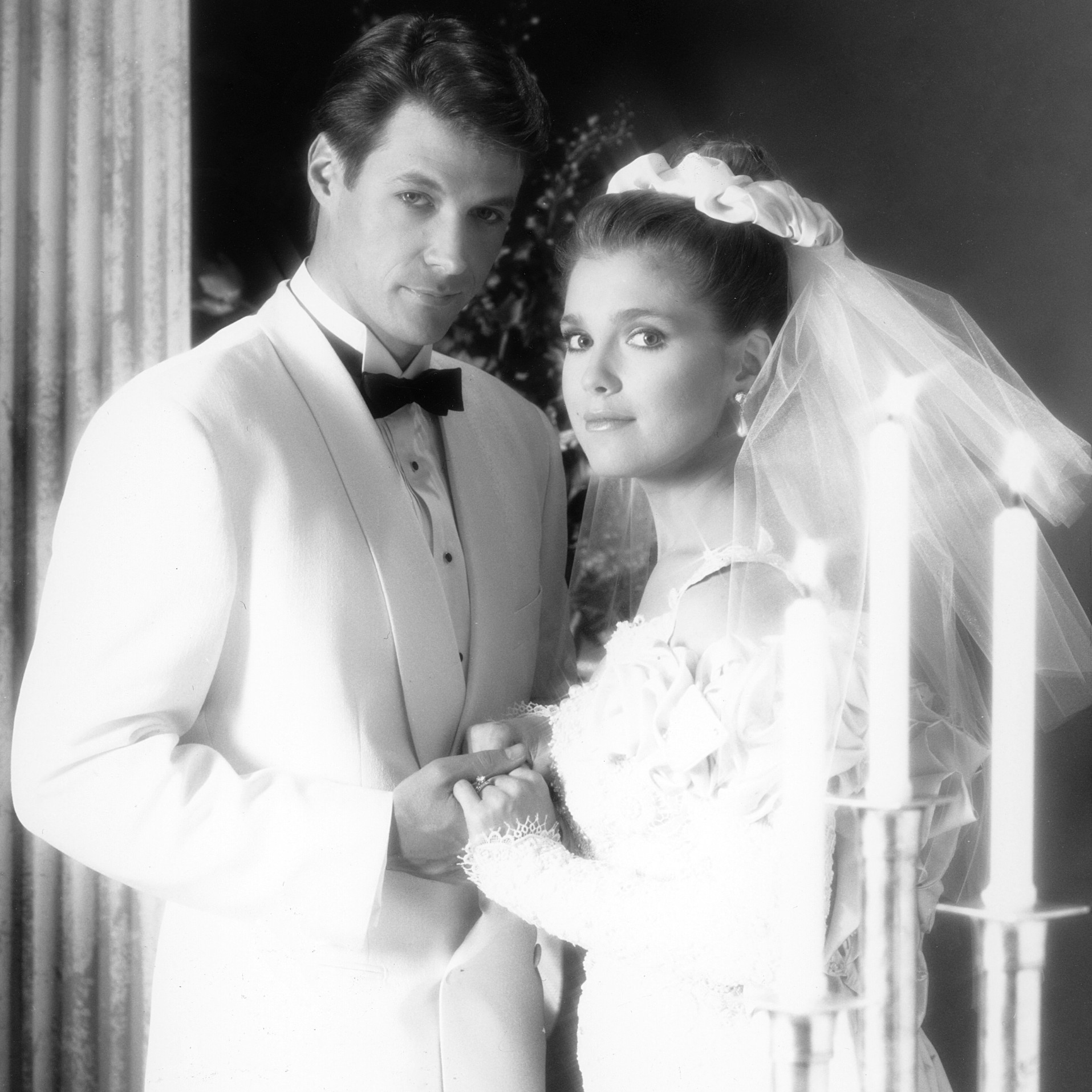 DAYS OF OUR LIVES, from left: Matthew Ashford, Melissa Reeves, 1991 jack jennifer wedding