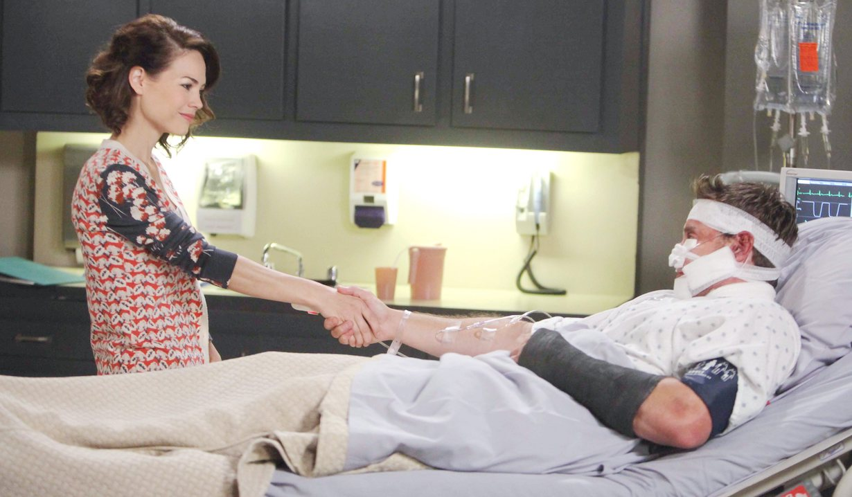 "Billy Miller, Rebecca Herbst ""General Hospital"" Set The Prospect StudiosABC Studios09/11/14© Howard Wise/jpistudios.com310-657-9661Episode # 13154U.S. Airdate 10/07/14"