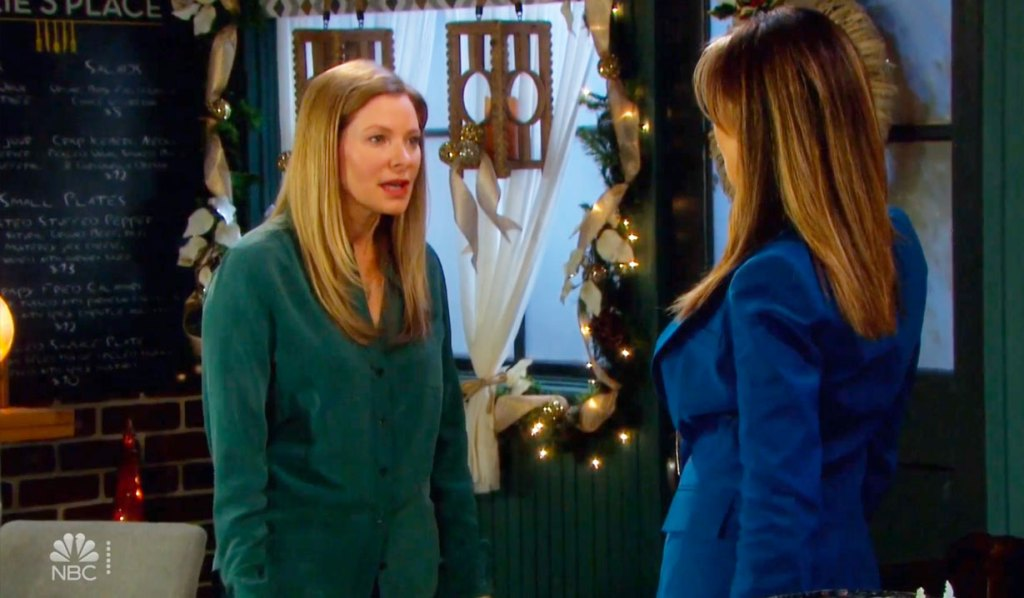Jenn is angry with Kate on Days