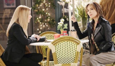 jennifer and kate talk in the square DAYS