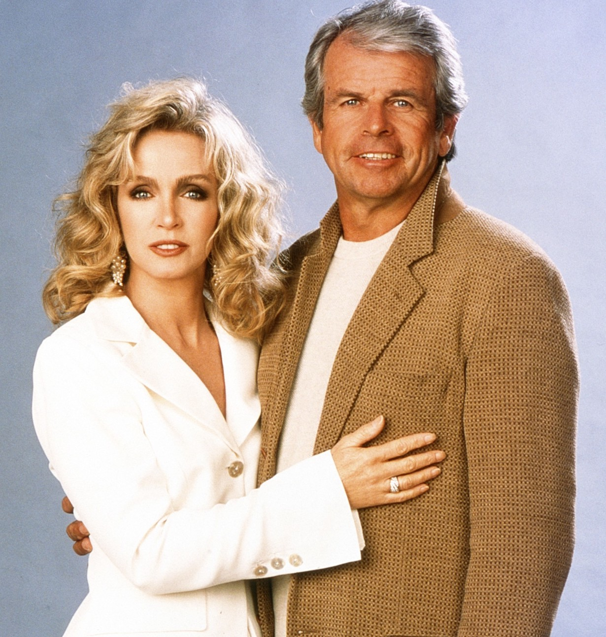 KNOTS LANDING: BACK TO THE CUL-DE-SAC, from left: Donna Mills, William Devane, 1997. ph: Randy Tepper /© CBS /Courtesy Everett Collection