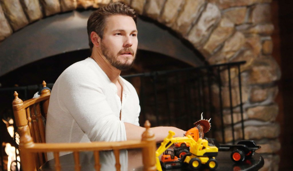 liam talks to hope at the cabin B&B