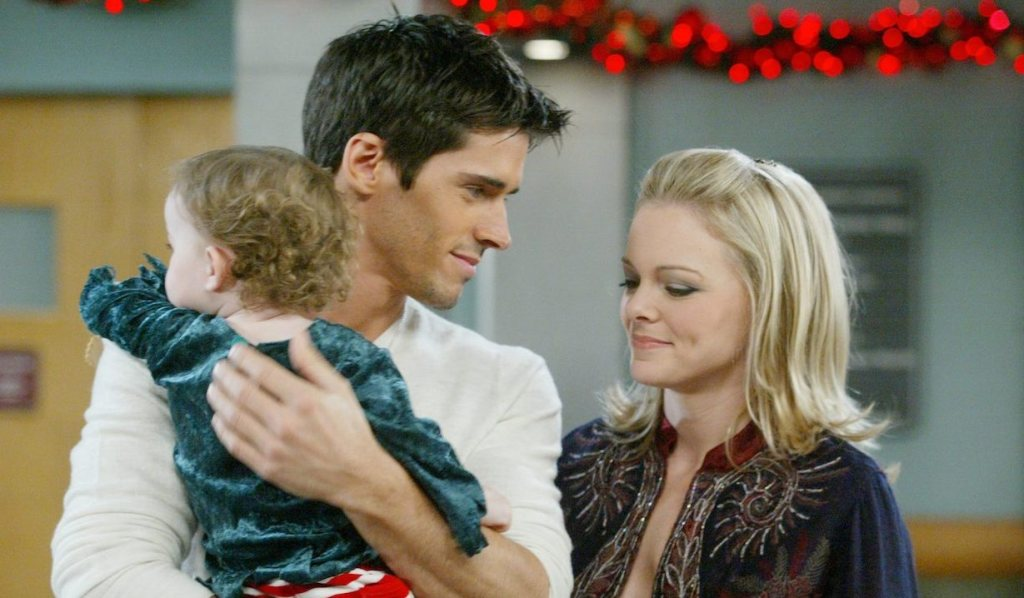 Shawn, Belle, and baby Claire on Days of Our Lives