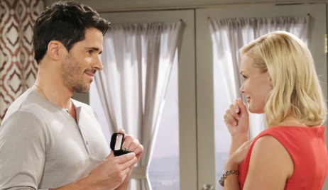 Shawn presents Belle with a ring on Days of Our Lives